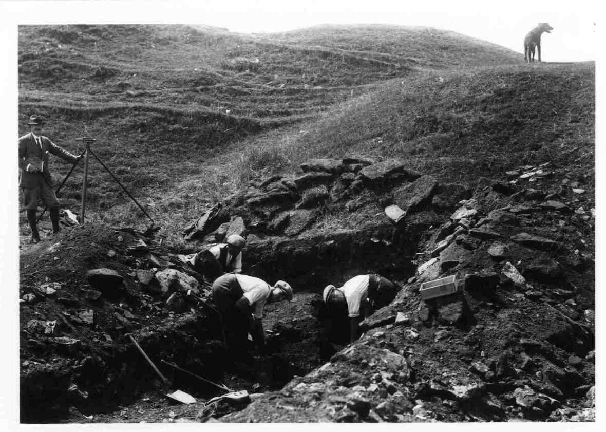 Picture of quarrying at Ham Hill from hamhillfort.info