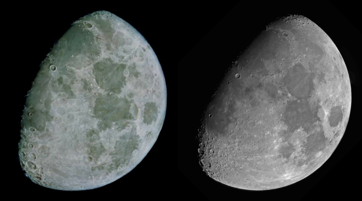 John Russel's moon compared to a modern photograph. Source:  British Astronomical Association Lunar Section Circular