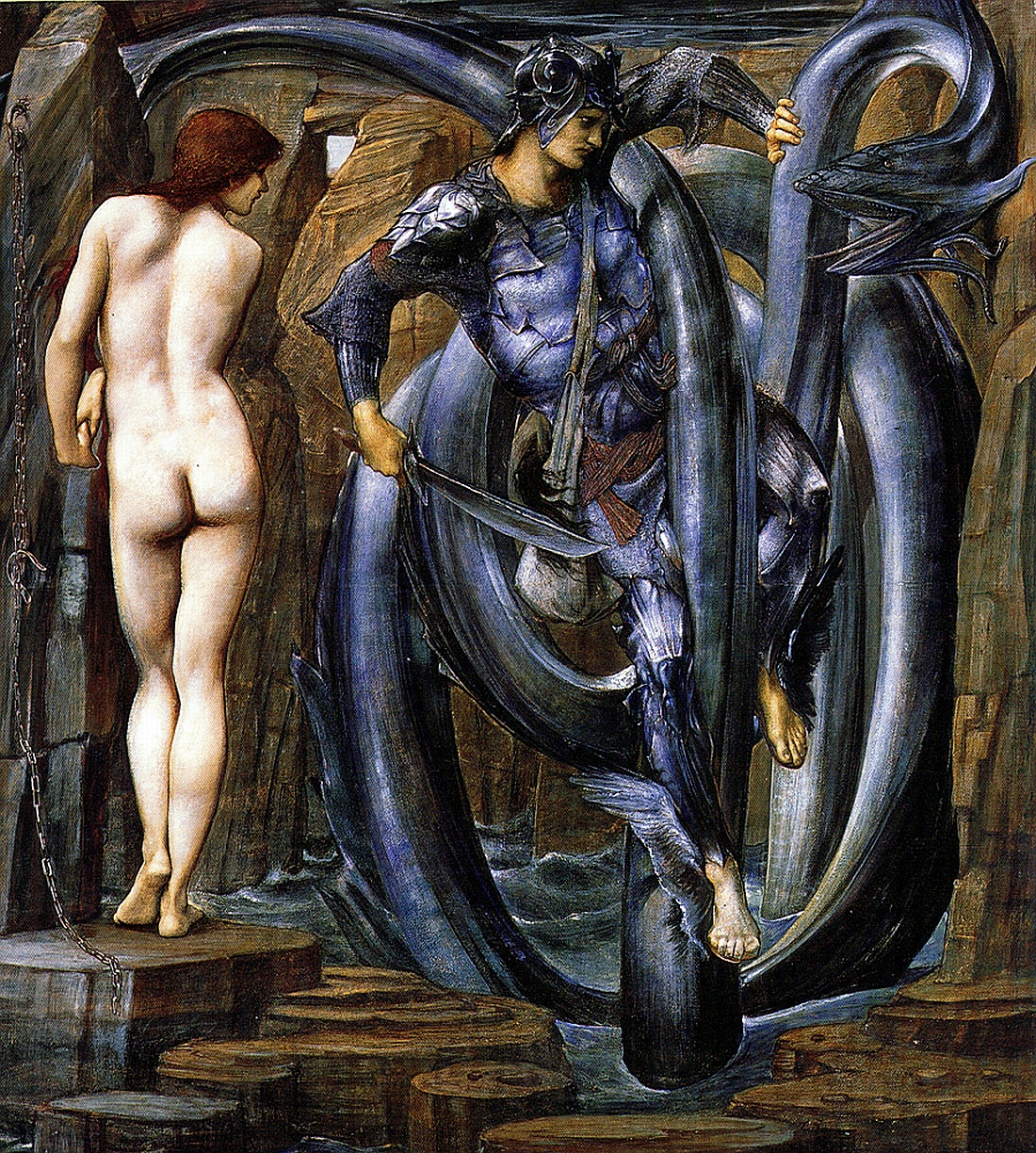 Perseus saves Andromeda: Edward Burne-Jones
