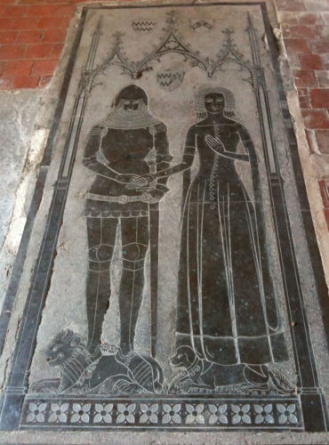 Brass of John de la Pole and Joan Cobham in Crisham Church. Source: Sirgawainsworld